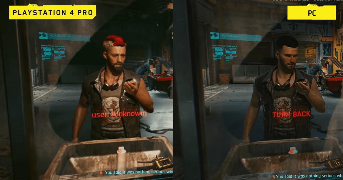 Cyberpunk 2077: esta comparación de PS4 Pro / PC puede hacer que quieras comprar una versión en particular