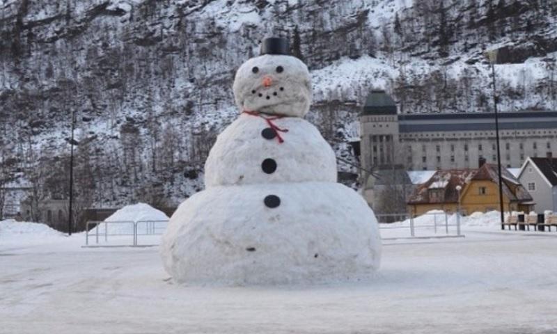 ¿Dónde está filmando el muñeco de nieve?