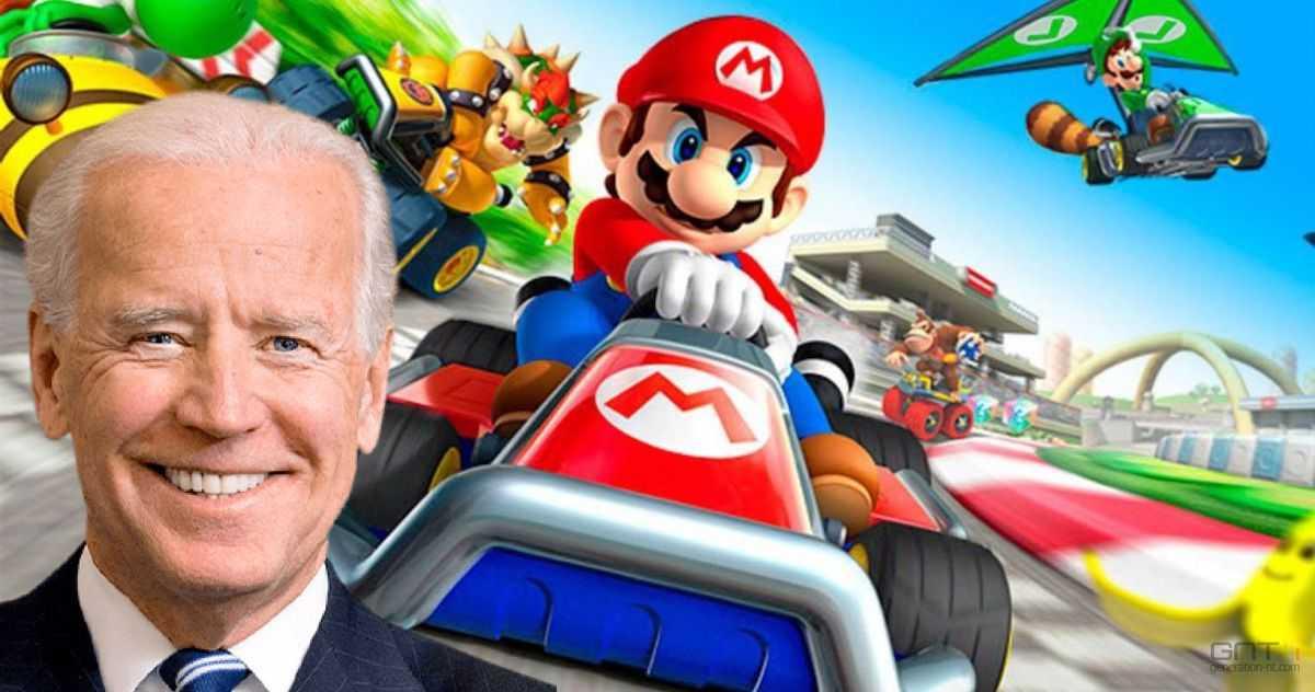 Joe Biden es fan de Mario Kart y lo demostró este fin de semana