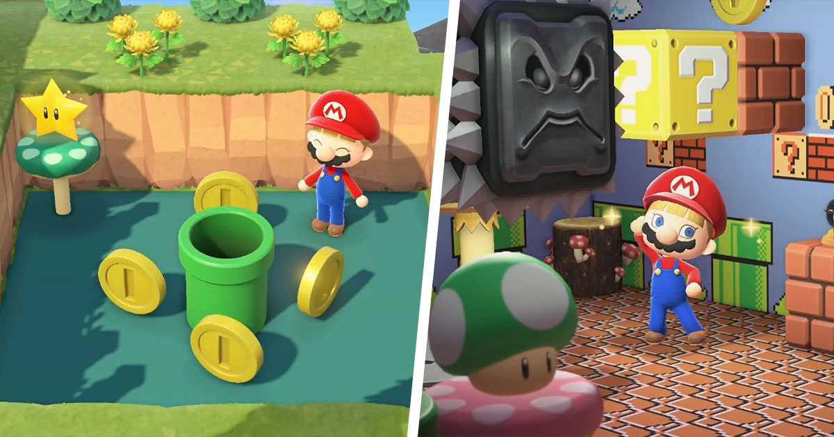 Animal Crossing New Horizon: la isla de Super Mario hace cada vez más sueños