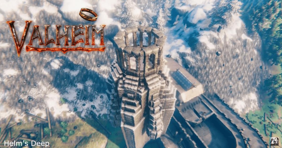 Valheim: este jugador construye una impresionante recreación de Helm's Deep