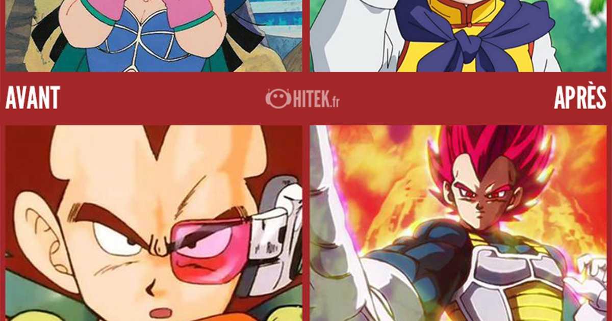 Antes / después: la evolución de 16 personajes de Dragon Ball entre su primera aparición y hoy