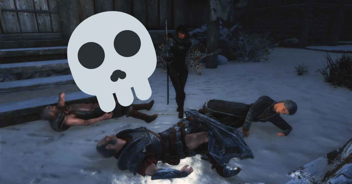 Skyrim: este jugador ha asumido la loca apuesta de matar a todos los seres vivos del juego.