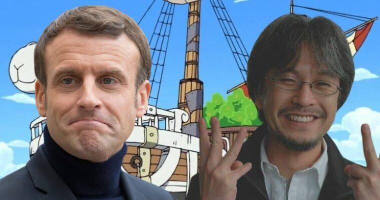 One Piece: este encuentro entre Emmanuel Macron y Eiichiro Oda divide a los fanáticos del manga