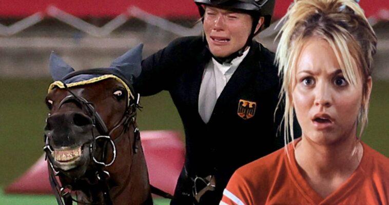 Teoría del Big Bang: Kaley Cuoco conmocionada, hace un gesto por este caballo maltratado en los Juegos Olímpicos