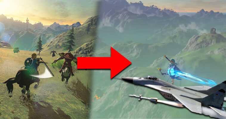 Breath of the Wild: esta falla convierte a Link en un verdadero avión de combate