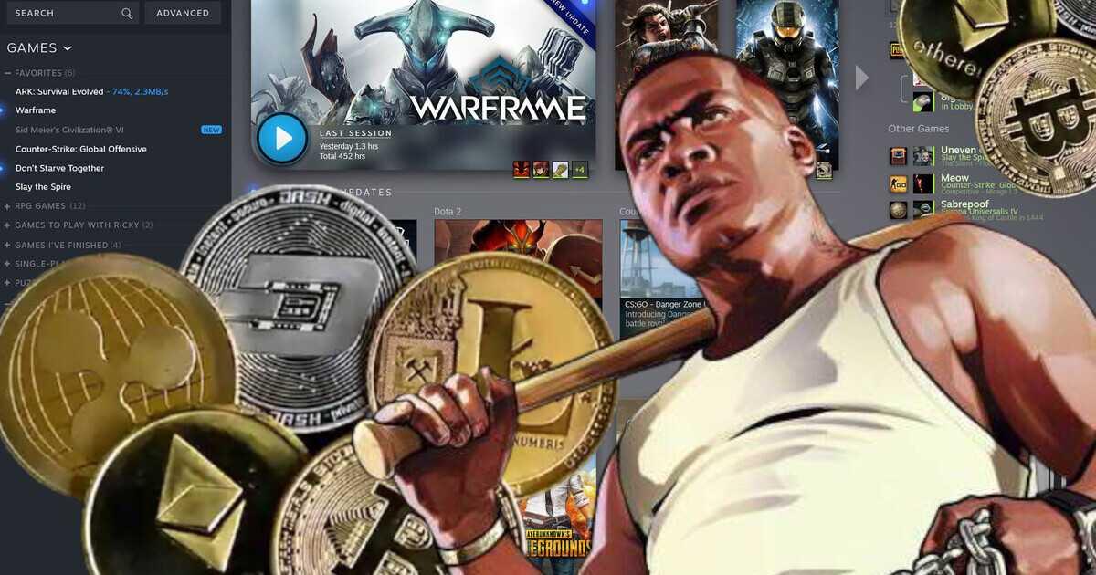 Steam: la plataforma toma una decisión radical sobre las criptomonedas